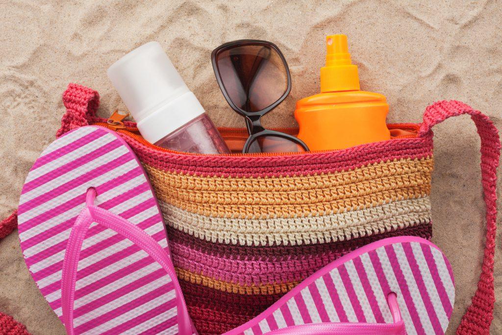 beauty bag for summertime