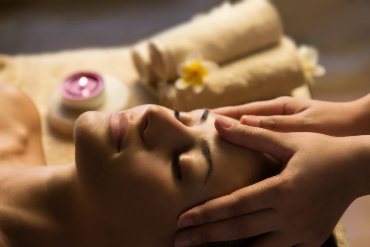 woman getting ready for esthetics treatment