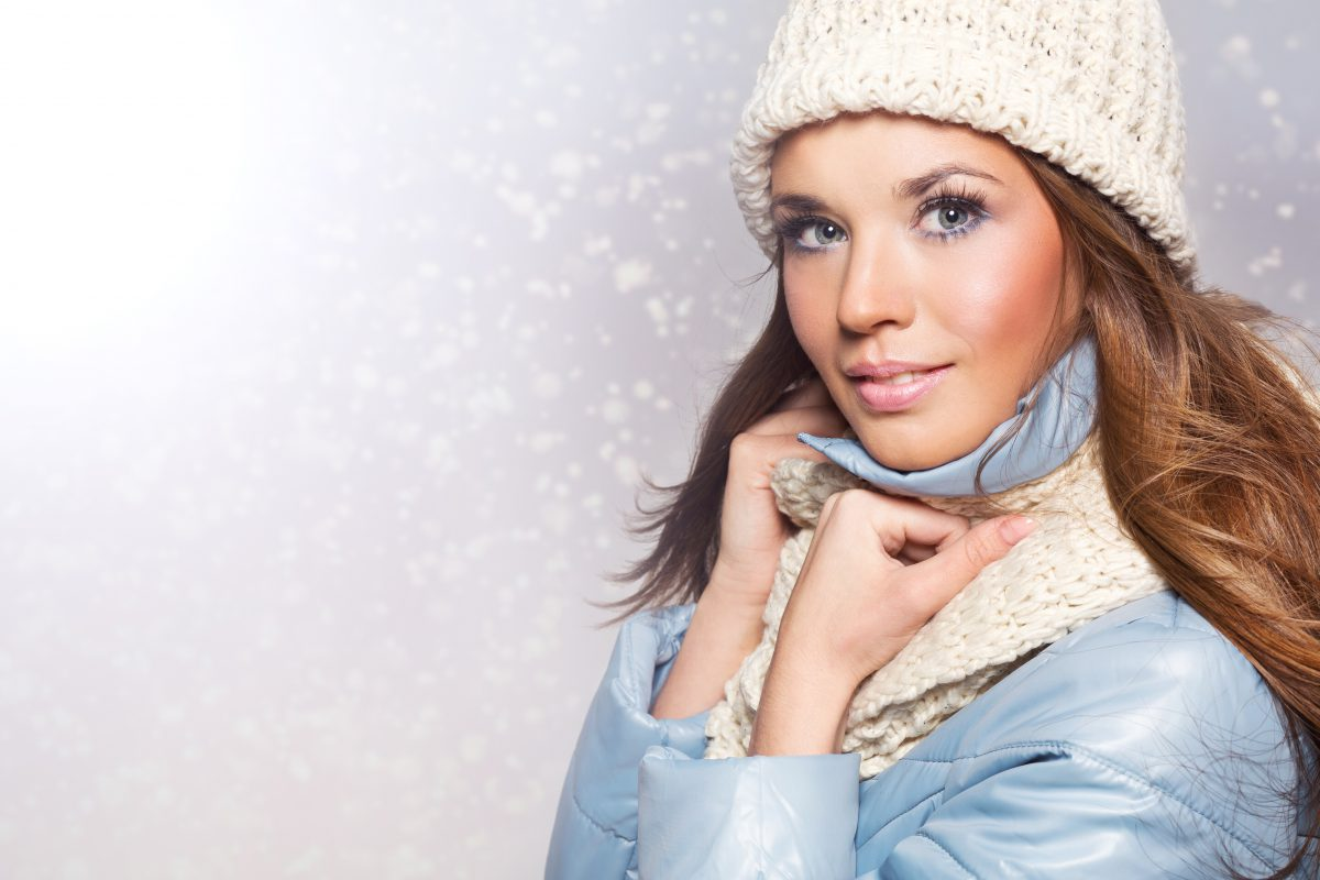 Women with winter makeup
