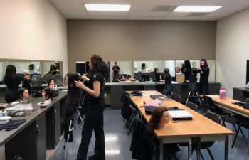 Student in Cosmetology School