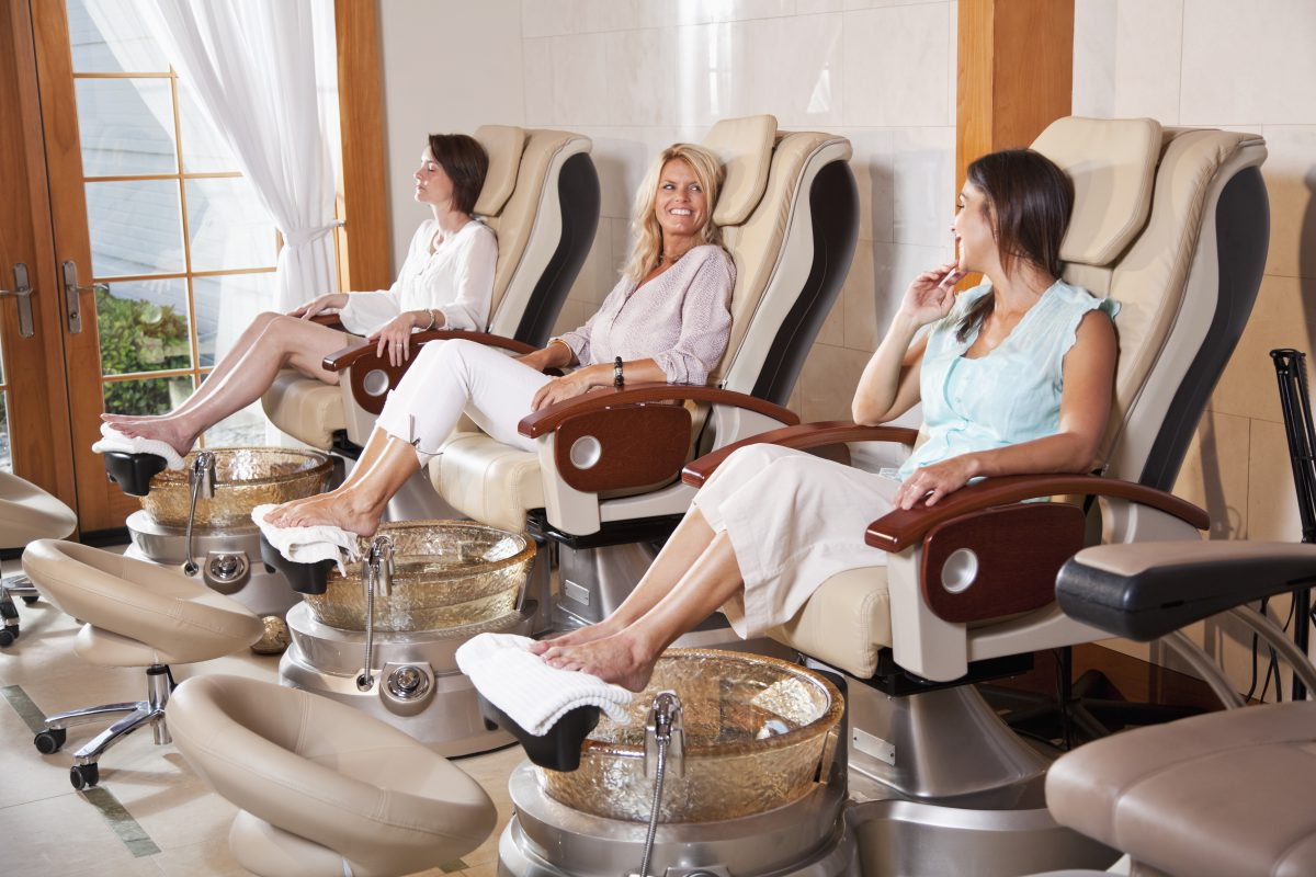 Women in a pedicure Salon