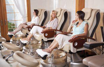 Women in a pedicure Salon