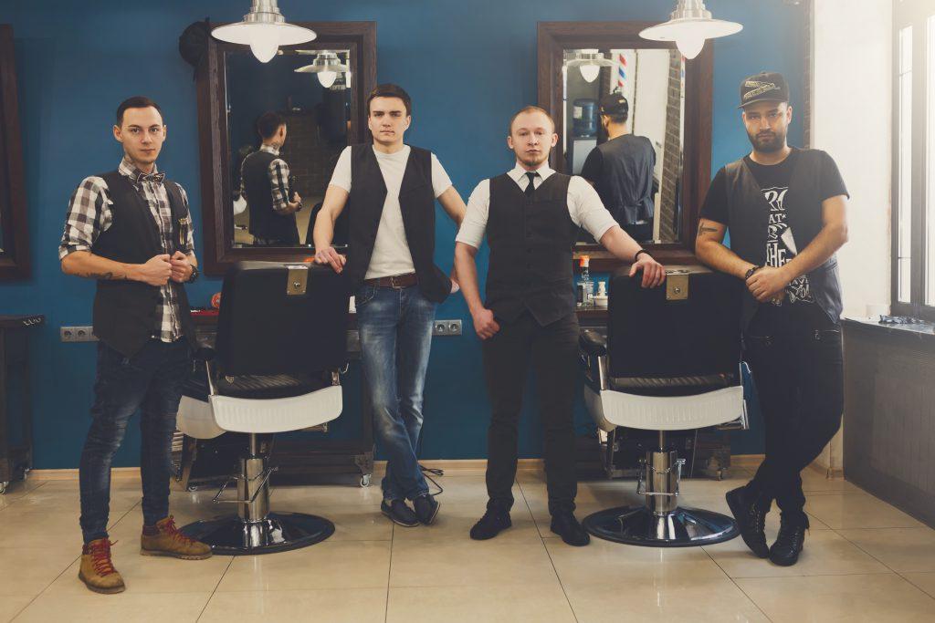 men getting ready for barber battles