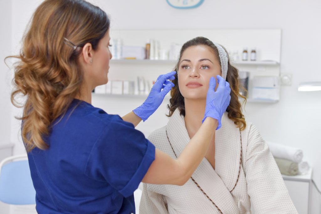 esthetician addressing client skincare worries
