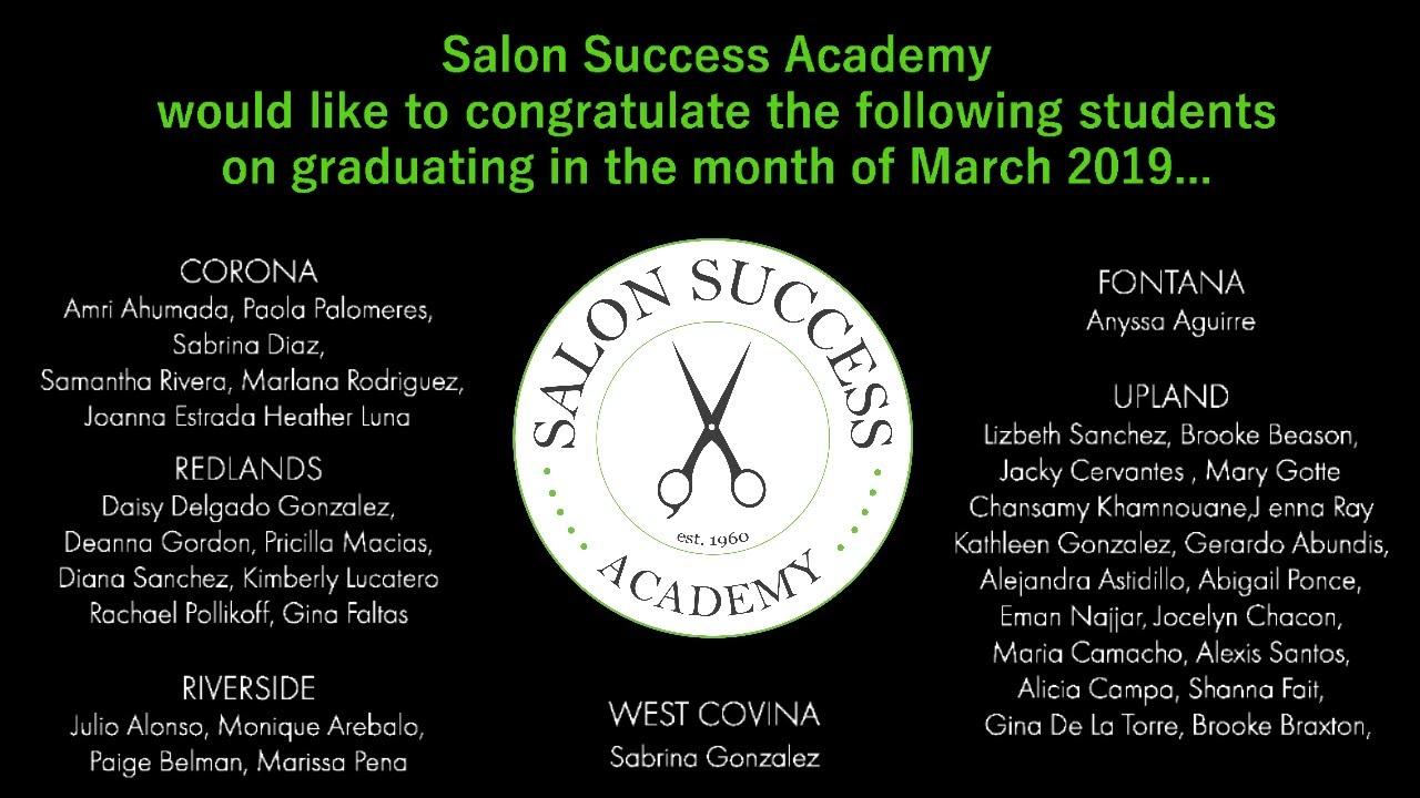 March 2019 Graduates
