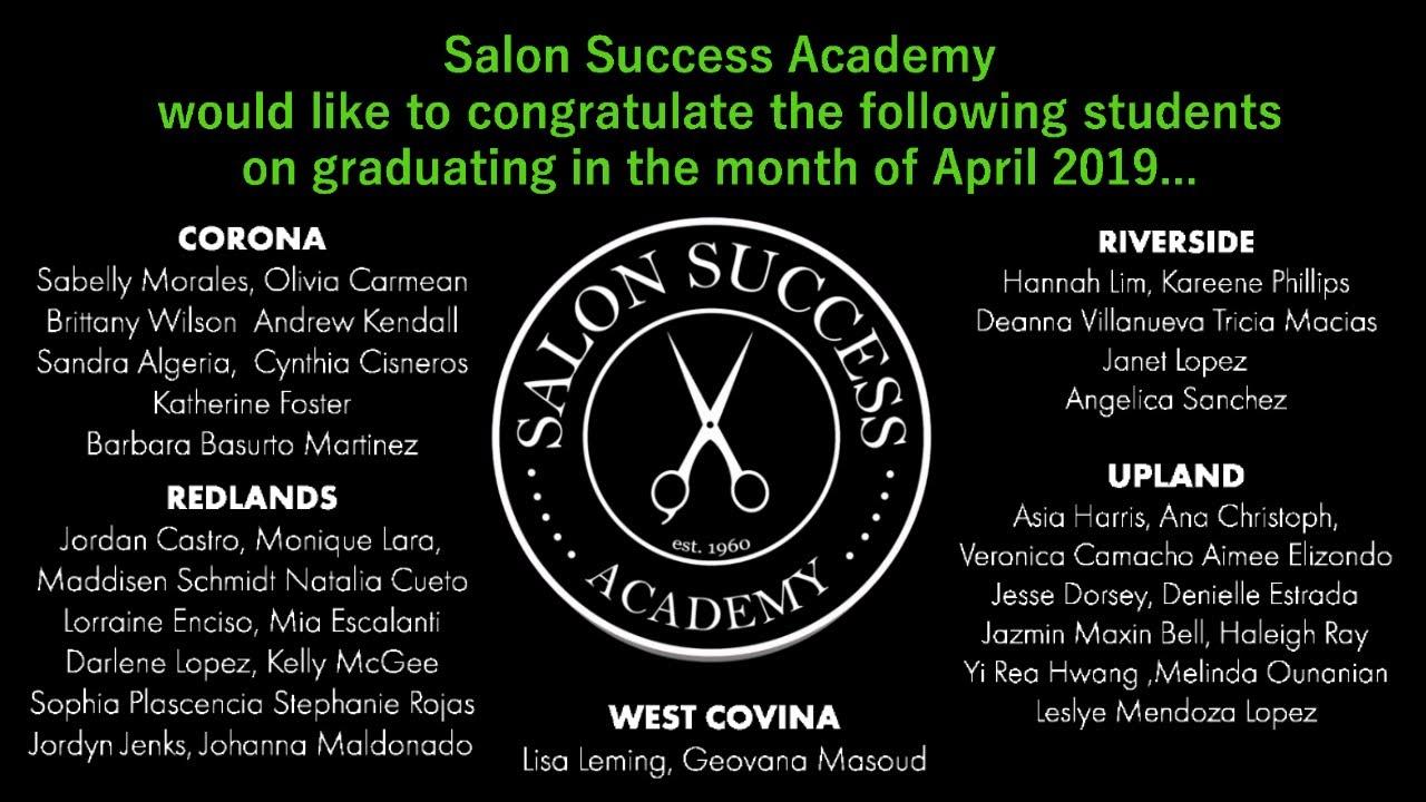 April 2019 Graduates