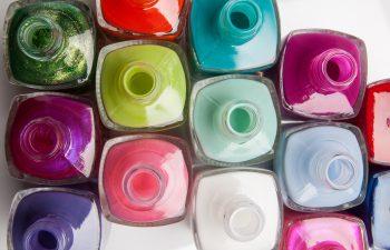 nail polish bottles with summer colors