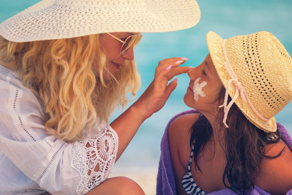 mother and daugter summer skincare