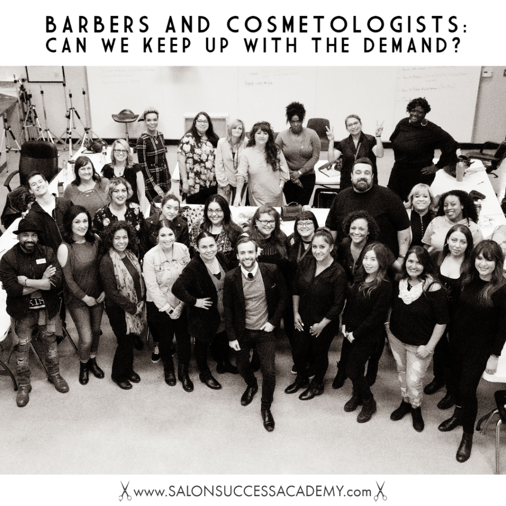 barbering and cosmetology demand
