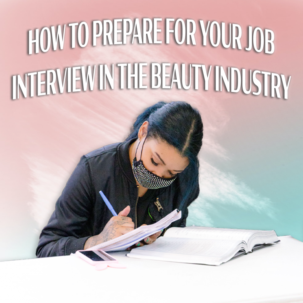 student preparing for interview